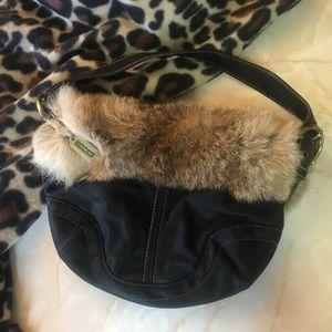 NWT Coach Fur Purse Parka Bag Strap Small Hobo